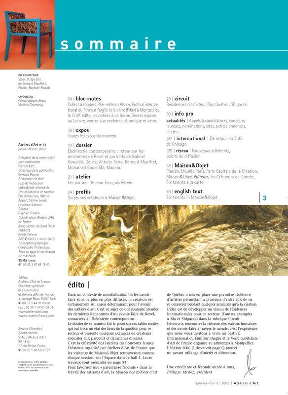 N° 61 janvier -février 2006
