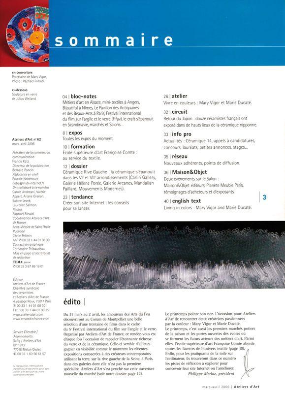 N° 62 mars- avril 2006