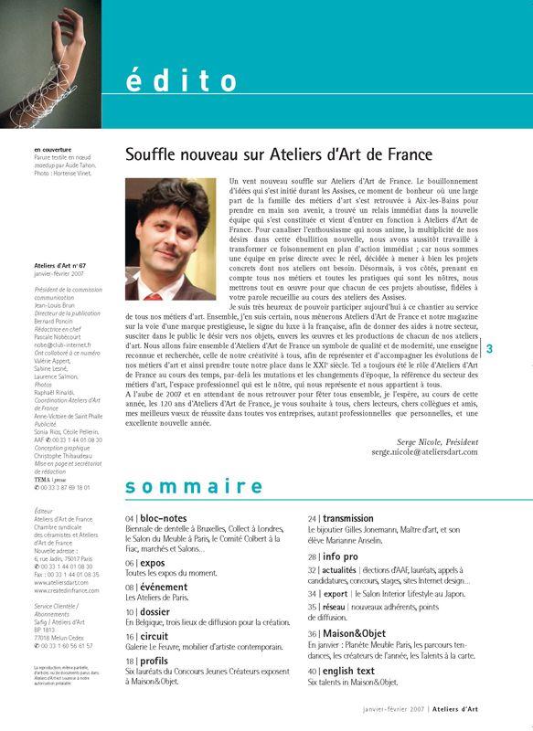 N° 67 janvier -février 2007