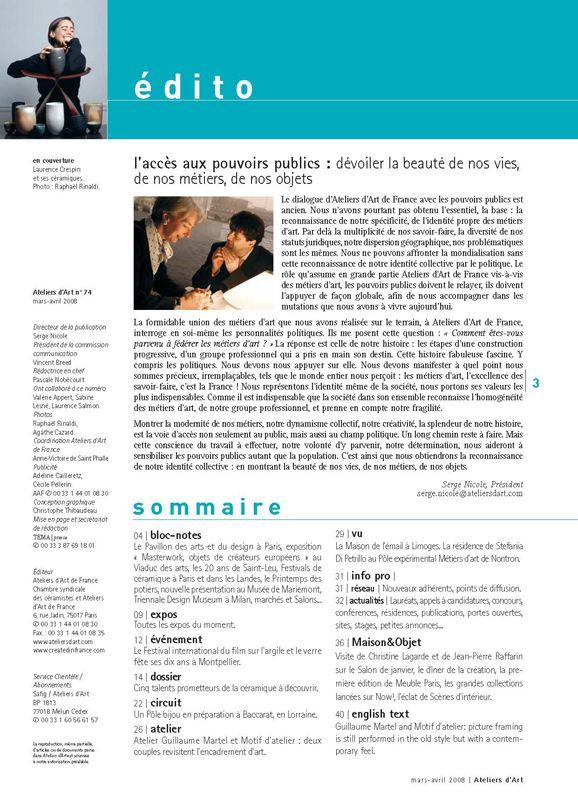 N° 74 mars- avril 2008