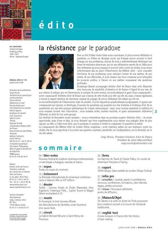 N° 76 juillet - août 2008