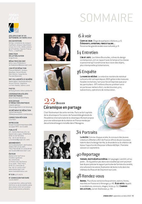 N° 89 septembre-octobre 2010