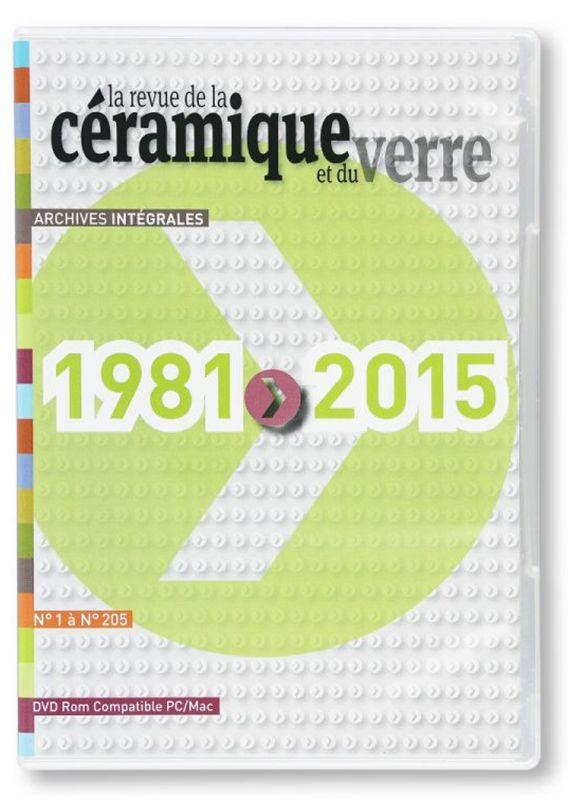 Archives intégrales de la Revue de la Céramique et du Verre N°1 à N°175 - DVD-ROM