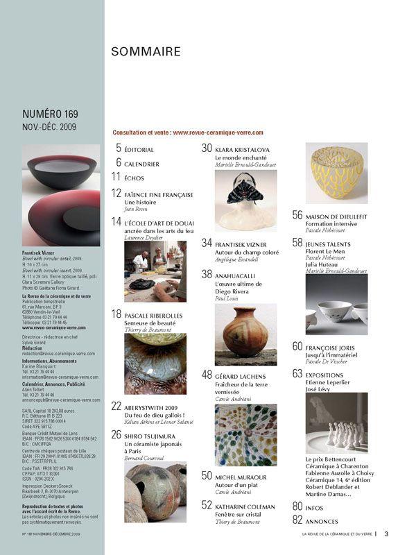 N° 169 novembre-décembre 2009