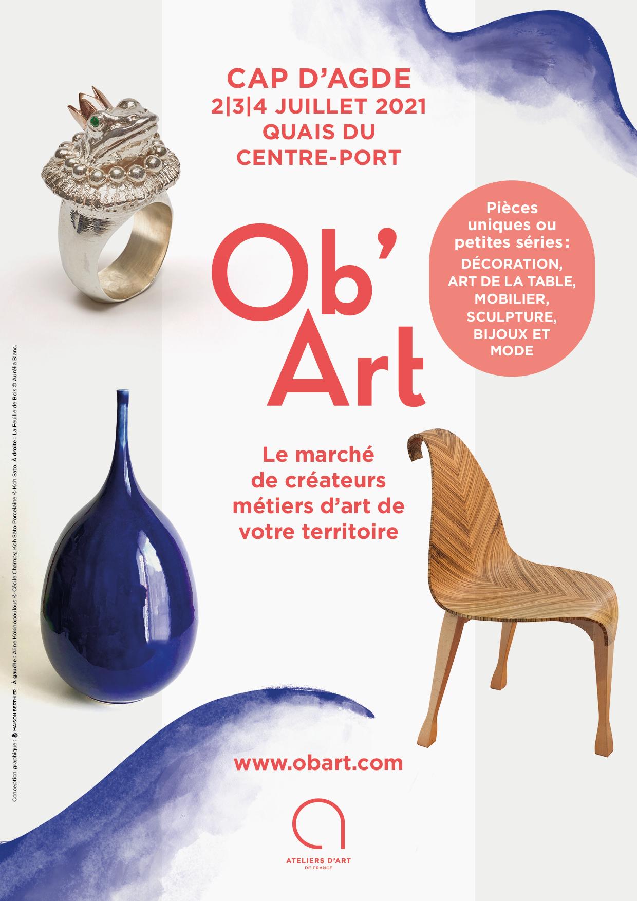 OB'ART CAP D'AGDE- Du 2 au 4 juillet 2021